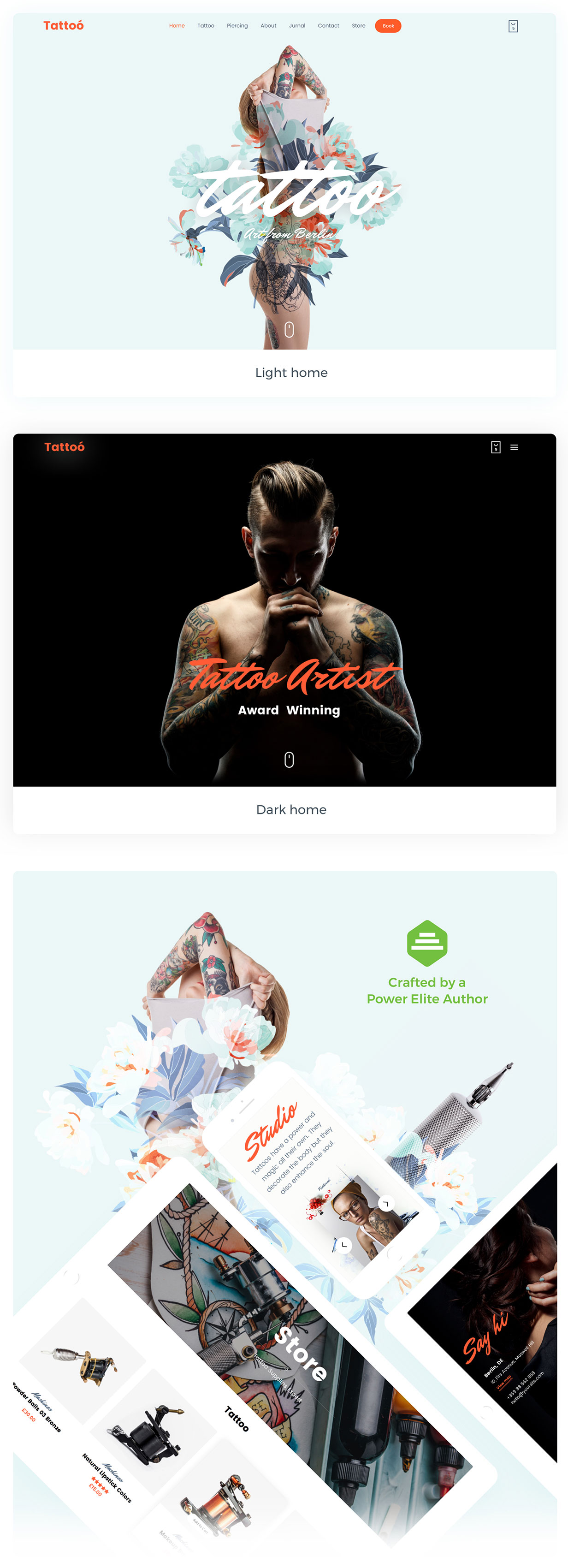 Tattoo Shop - theme for Tattoo Piercing Studio